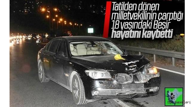 İzmir Çeşme'de tatil yaptıktan sonra Ankara'ya dönmek isteyen Zeki Hakan Sıdalı'nın aracıyla çarptığı Beşir Kaya, olay yerinde yaşamını yitirdi.
