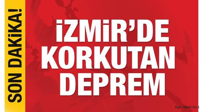 İzmir'de 4.8 büyüklüğünde deprem meydana geldi