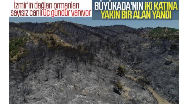 İzmir'de yangın kontrol altına alındı.