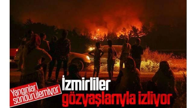 İzmir'deki orman yangınları durdurulamıyor...