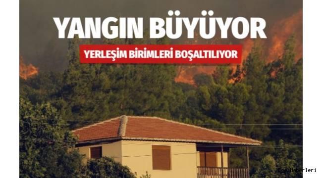 İzmir Karabağlar'daki orman yangını Yukarı Orhanlı Köyü'ne sıçradı.