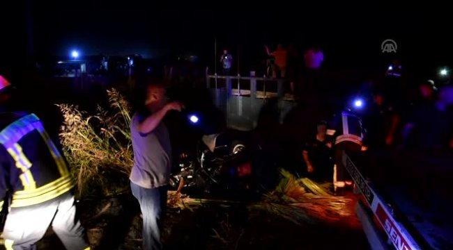 Manisa'da otomobil sulama kanalına devrildi: 1 ölü, 1 yaralı