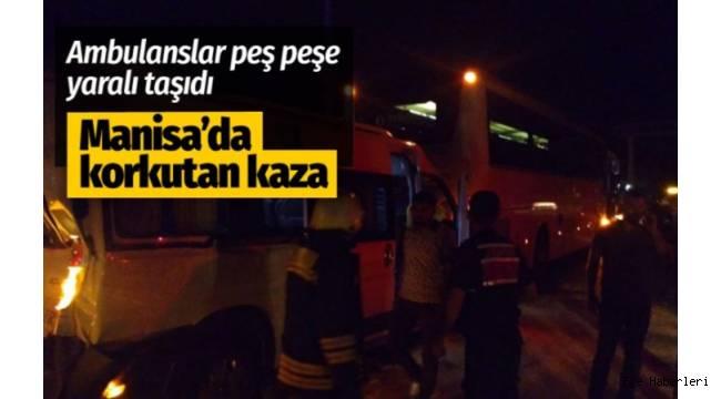 Manisa'da zincirleme trafik kazası: 23 yaralı