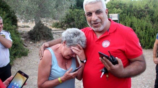 Bodrum'da dağlık alanda kaybolan İngiliz turist ekipleri alarma geçirdi