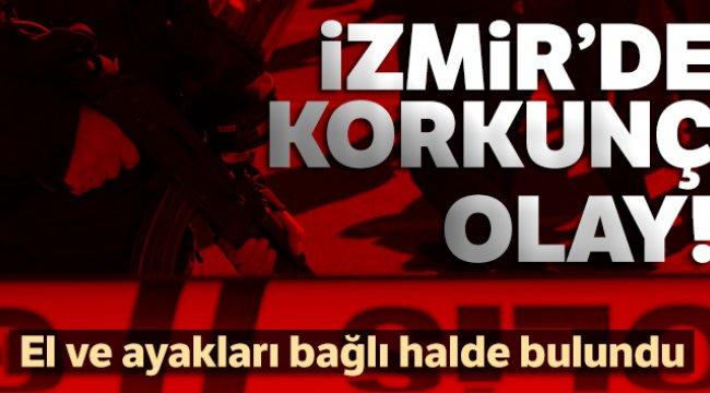İzmir'de bir kadın evde el ve ayakları bağlı halde bulundu