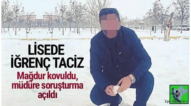 İzmir'in Buca ilçesinde bir lisede temizlik görevlisi olarak çalışan 27 yaşındaki H.A., öğretmenler odasında okul müdürü tarafından cinsel tacize uğradı..