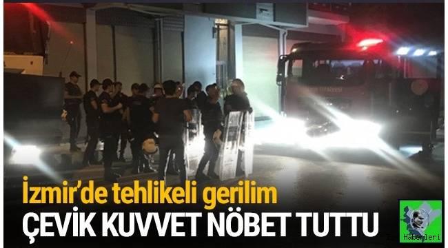 İzmir'in Karabağlar ilçesinde cinayet sonrası tehlikeli gerilim ! Çevik kuvvet ve TOMA nöbet tuttu