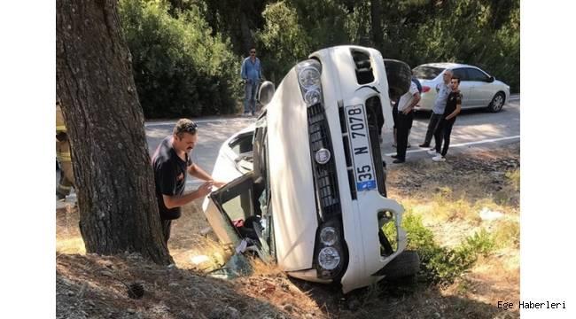 İzmir Urla'da meydana gelen kaza baba öldü,iki kızı yaralandı..