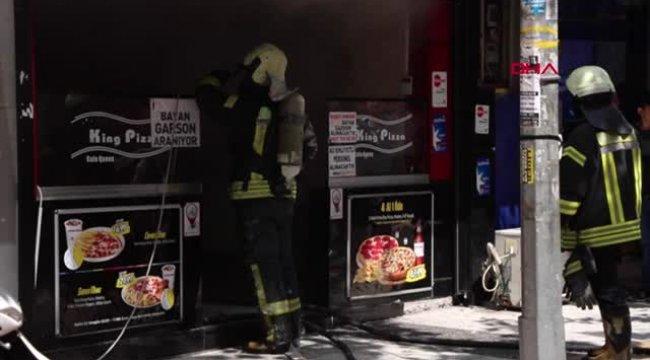 Manisa'da pizzacıda korkutan yangın