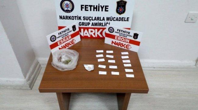 Muğla'nın Seydikemer ilçesinde, çalıştığı fırında eroin satarken yakalandı