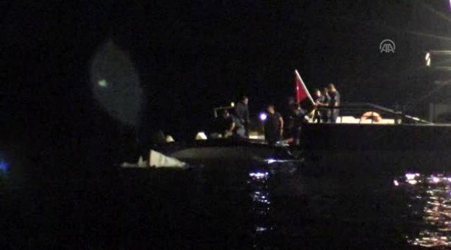 Bodrum'da düzensiz göçmenleri taşıyan lastik bot battı