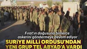 Suriye Milli Ordusu'ndan yeni grup Tel Abyad'a vardı