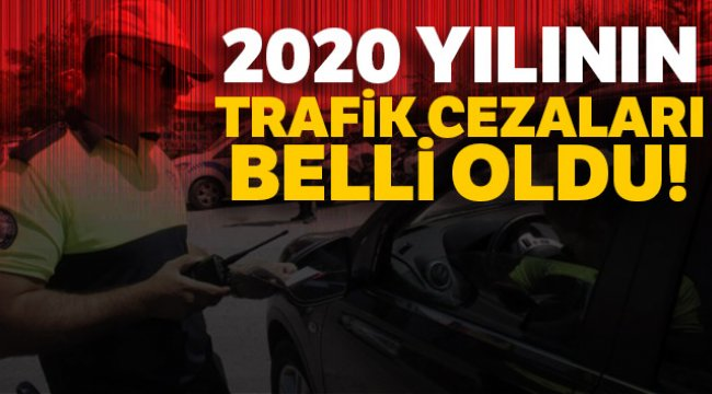 2020 yılına dair trafik cezaları belli oldu