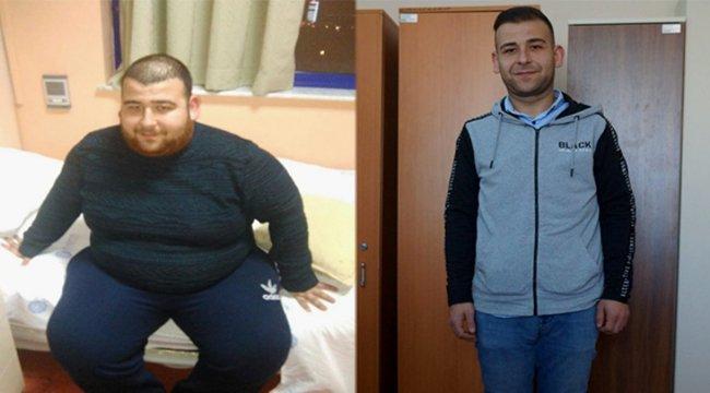 En büyük hayali için 110 kilo verdi
