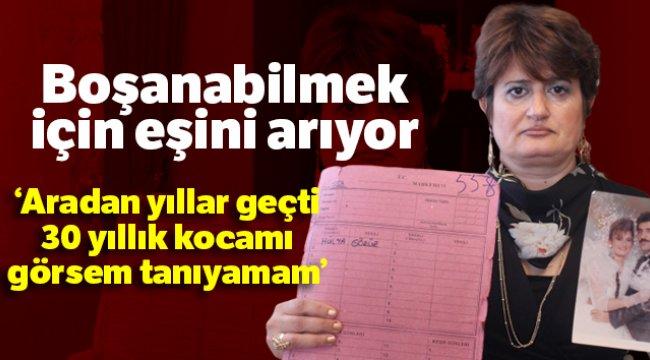 İzmir'de Hülya Görür 18 yıldır görmediği eşinden boşanamıyor