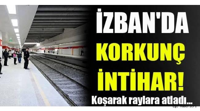 İzmir Karşıyaka İZBAN durağında intihar!