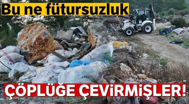 Bodrum'da, ormanda çıkan 65 ton çöp görenleri şok etti