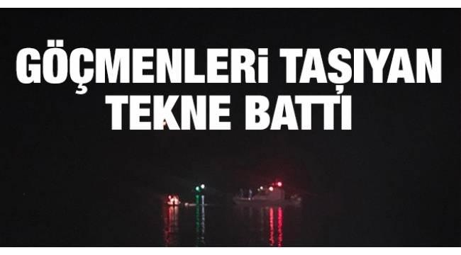 İzmir Çeşme'de düzensiz göçmenleri taşıyan teknenin batması sonucu 8'i çocuk 11 kişinin cesedine ulaşıldı..