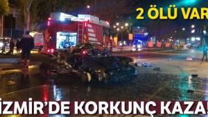 İzmir'de feci kaza! Arabadan savrulan 2 kişi öldü