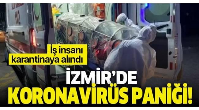 İzmir'de korona virüsü paniği !