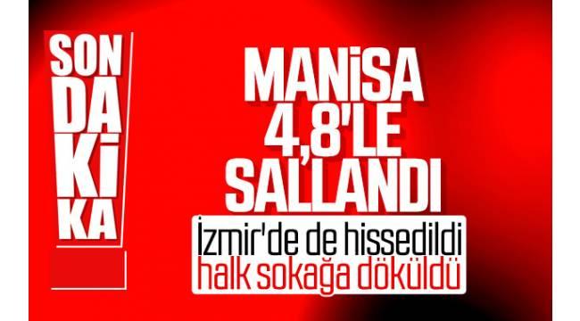 Manisa'nın Akhisar ilçesinde saat 05.43'te merkez üssü Akhisar olan 4,8 büyüklüğünde deprem kaydedildi.