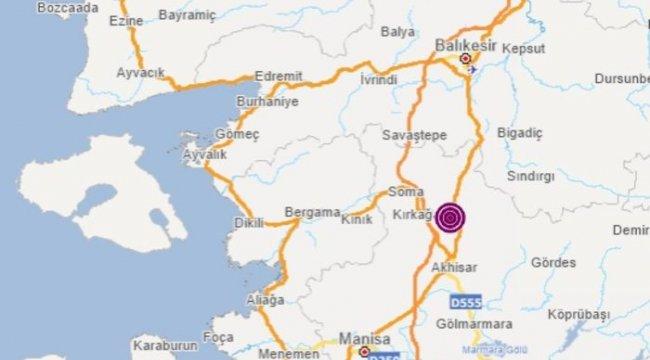 Manisa'nın Kırkağaç'ta 4.3 büyüklüğünde deprem