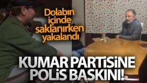 İzmir'de kumar partisine polis baskını: Dolabın içinde saklanırken yakalandı