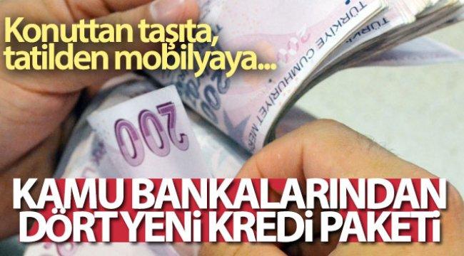Kamu bankalarından yeni kredi paketi