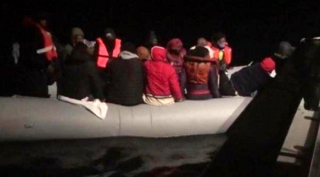 Bodrum'da 19 kaçak göçmen kurtarıldı