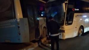 Kütahya'da otobüs ve işçi servisi çarpıştı: 12 yaralı