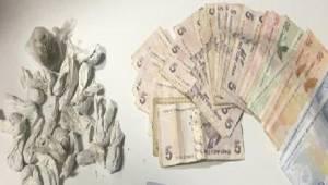Sokağa çıkma kısıtlamasında uyuşturucu ticareti yapan şüpheli yakalandı